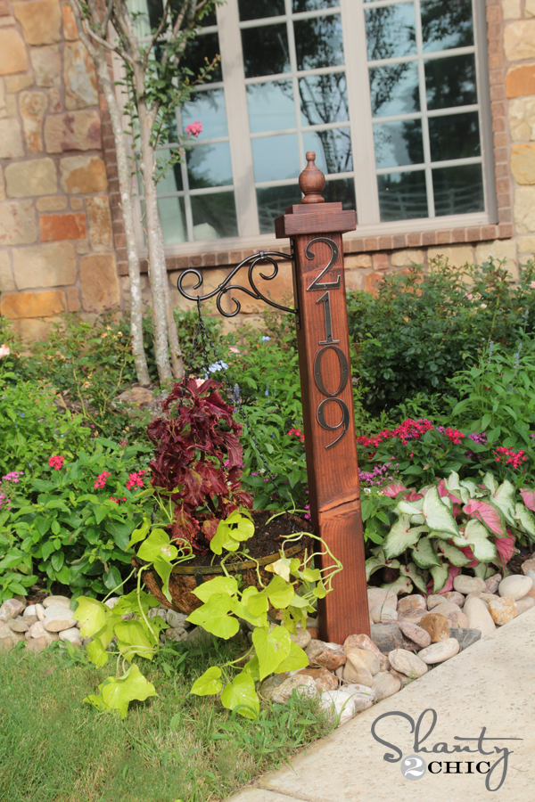 House Numbers Post and Planter