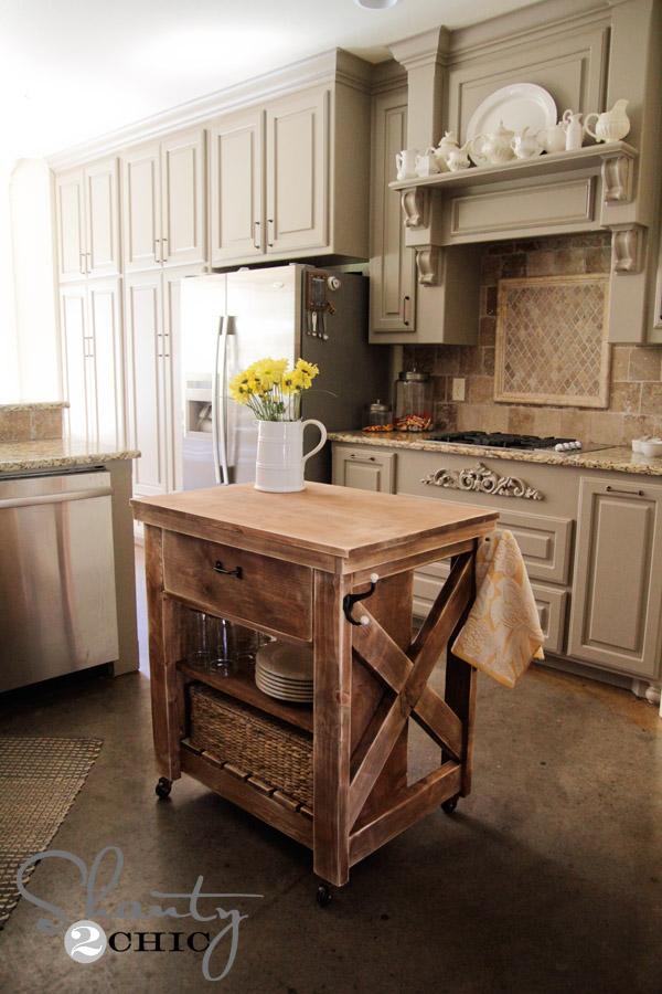 Kitchen Island Inspired By Pottery Barn Shanty 2 Chic