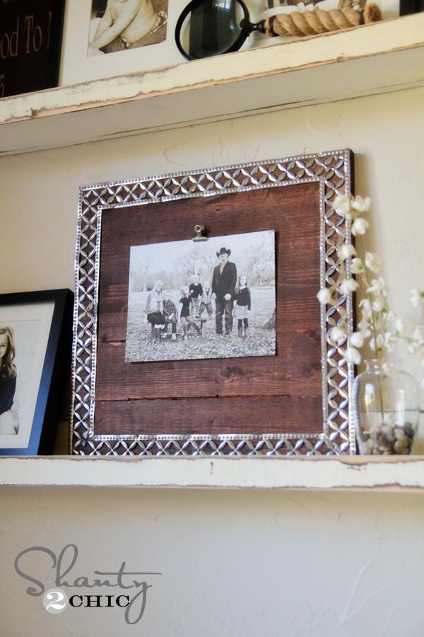 DIY Photo Frame with Metal Ribbon