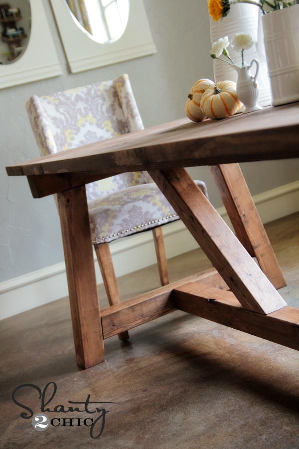 Tremendous Diy Restoration Hardware Dining Table Shanty 2 Chic Machost Co Dining Chair Design Ideas Machostcouk