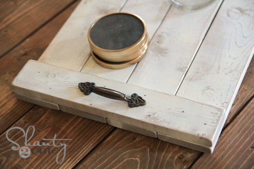 Distressed Wood Tray