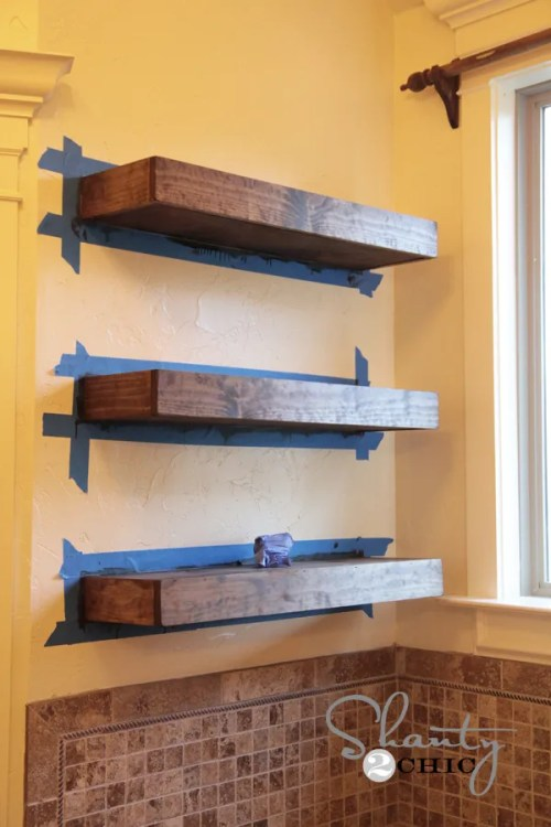 DIY Floating Shelves Tutorial