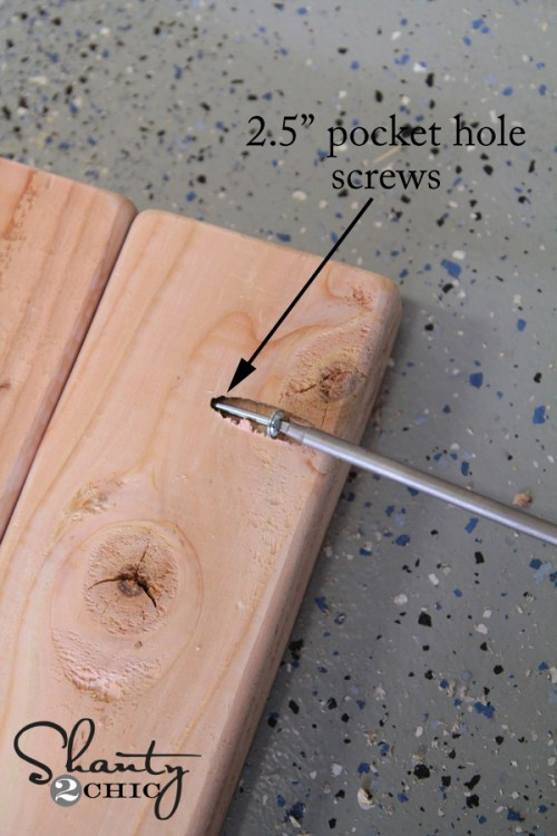 attaching pocket hole screws