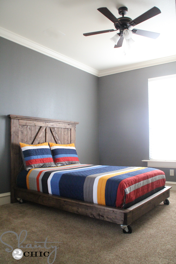 Diy Platform Bed On Wheels Shanty 2 Chic, Queen Bed On Casters