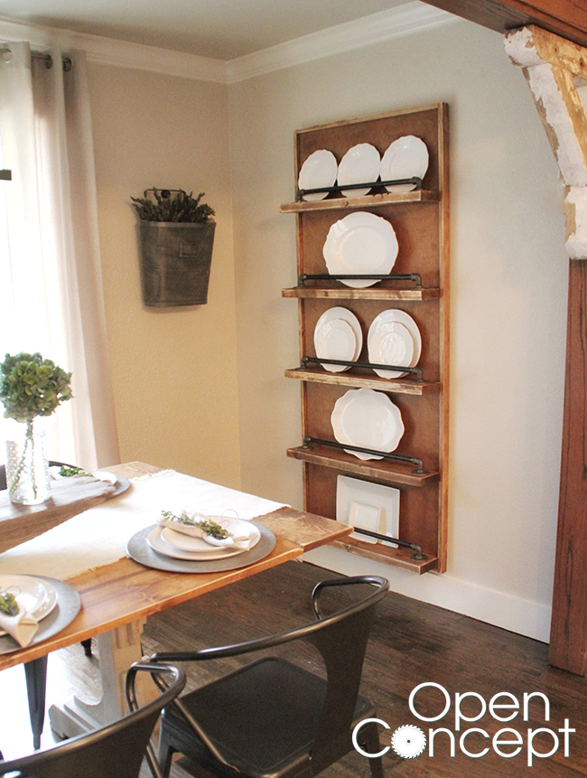Plate Rack from Open Concept on HGTV