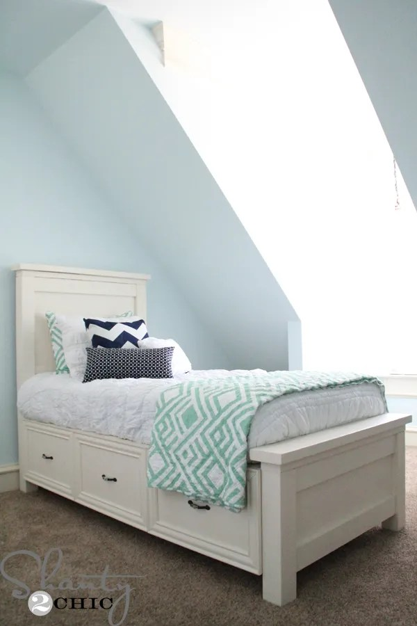 Diy Twin Storage Bed Shanty 2 Chic