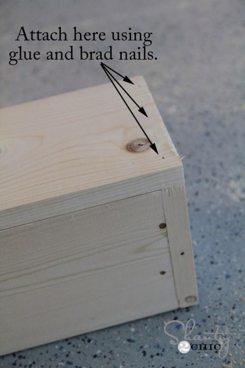 Glue and Nail the shelf