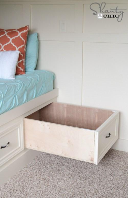 Storage Drawers under the bed DIY