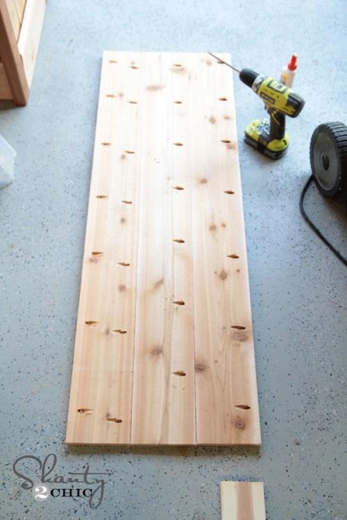 Bench for planter box
