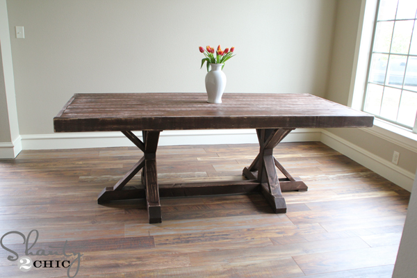 Restoration Hardware Inspired Dining Table For 110 Shanty