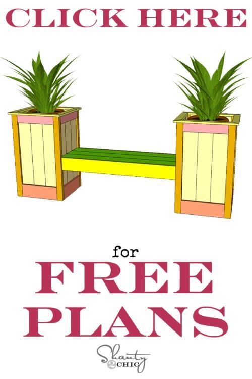 Free DIY Planter Box Bench Plans