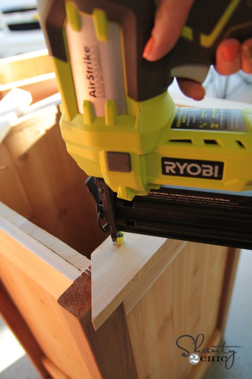 Miter cuts for bench