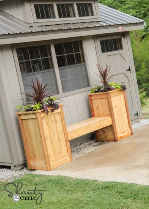 Planter Box Bench Free Plans