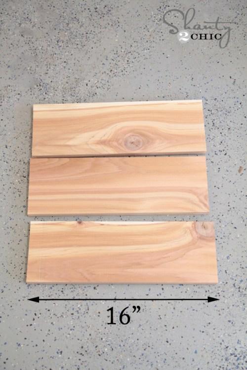 Wood for ladder planter
