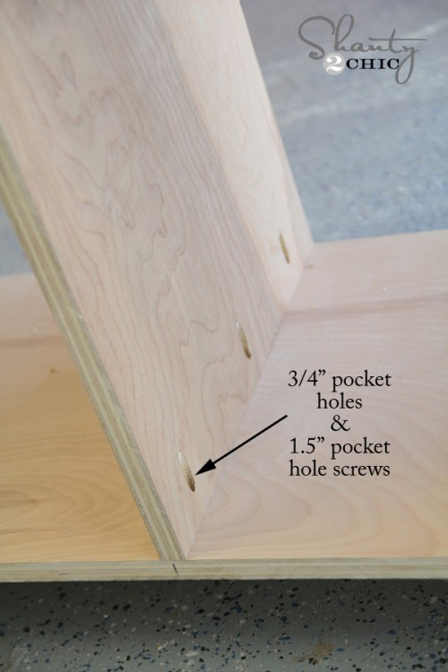 Building the media console pocket holes