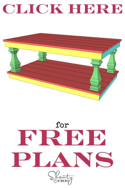 Free Plans Modern Farmhouse Coffee Table