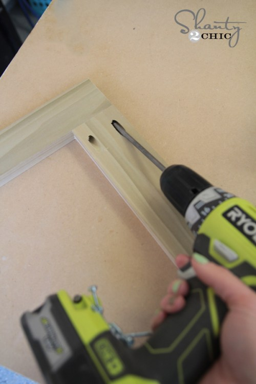 attaching pocket hole screws