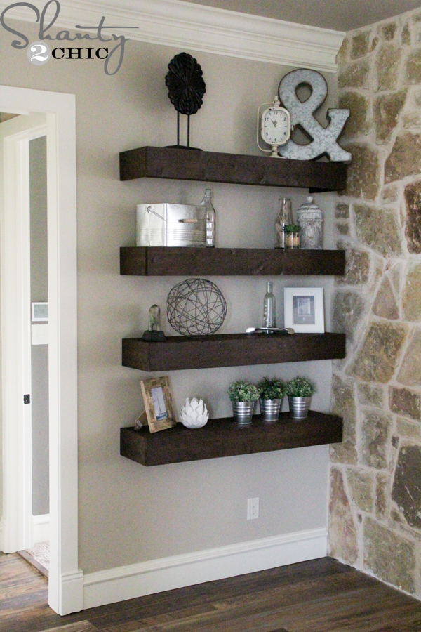 Fabulous Diy Floating Shelves For My Living Room Shanty 2 Chic Home Interior And Landscaping Mentranervesignezvosmurscom