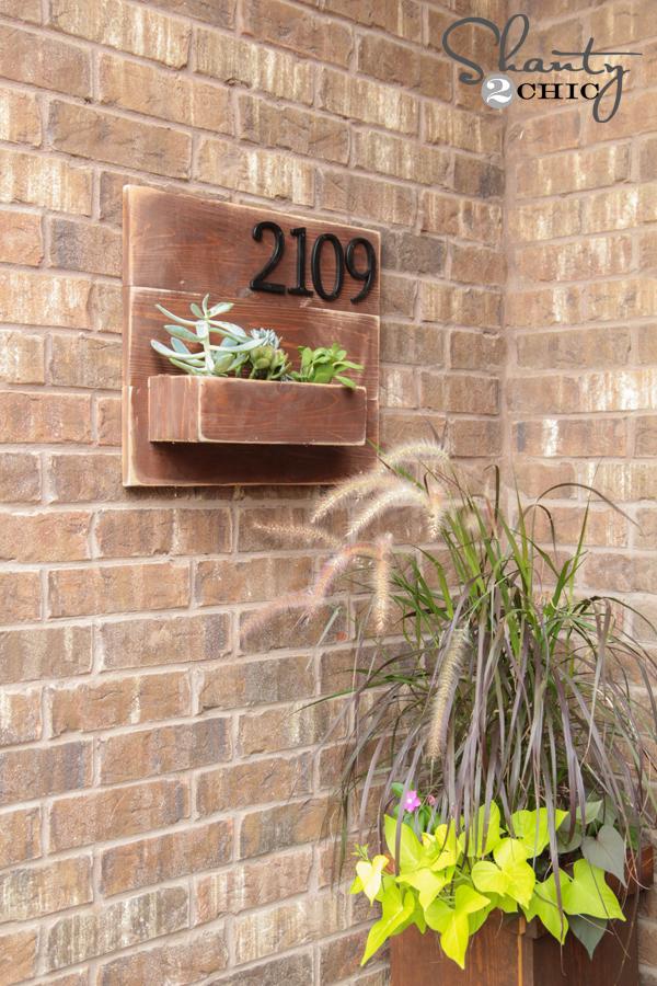 DIY Address Number Wall Planter Shanty 2 Chic