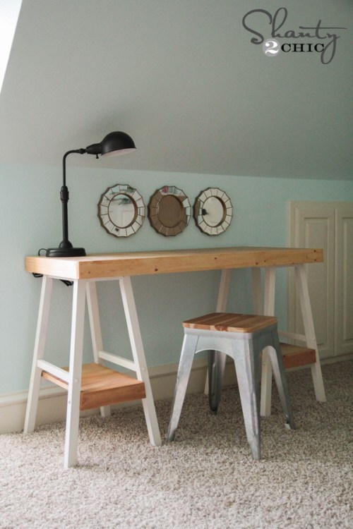 DIY Desk from Barstools