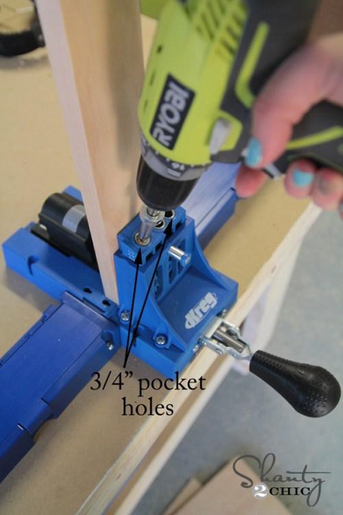 pocket holes for dresser frame