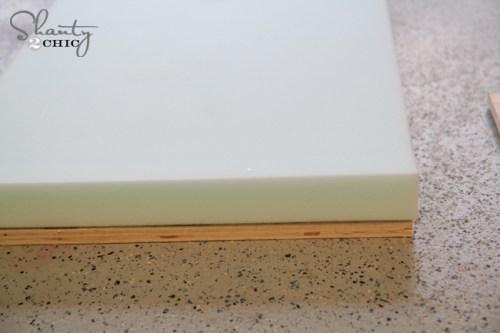 Foam for upholstered bench