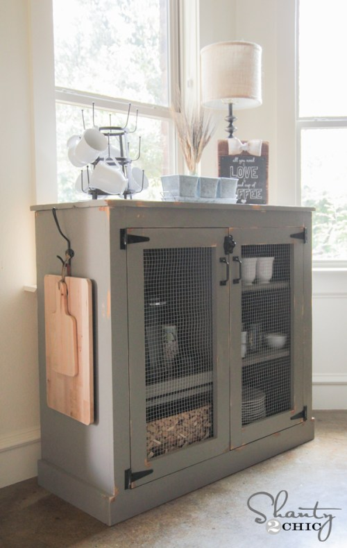 DIY Coffee Cabinet by Shanty2Chic