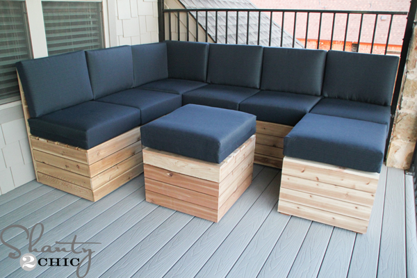 Swell Diy Modular Outdoor Seating Shanty 2 Chic Gmtry Best Dining Table And Chair Ideas Images Gmtryco