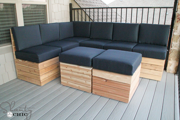 Diy Modular Outdoor Seating Shanty 2 Chic, Build Patio Furniture Sectional