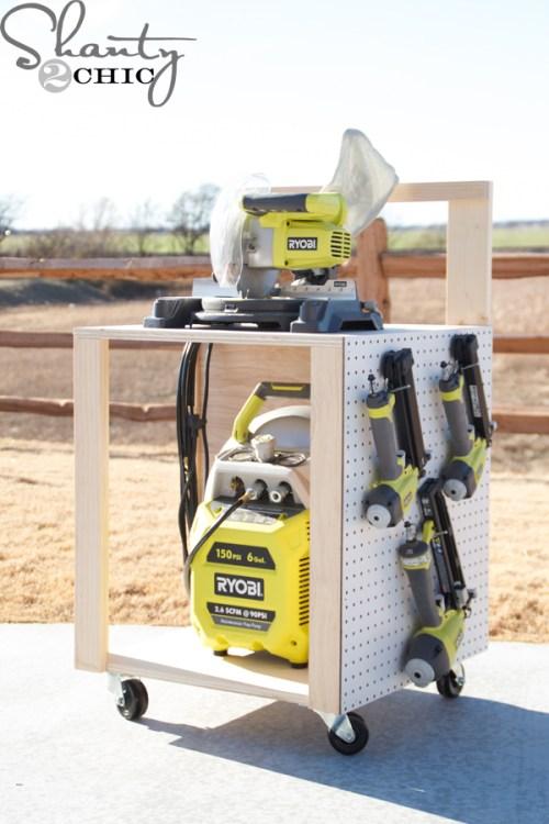Compressor-Cart-on-Wheels-DIY