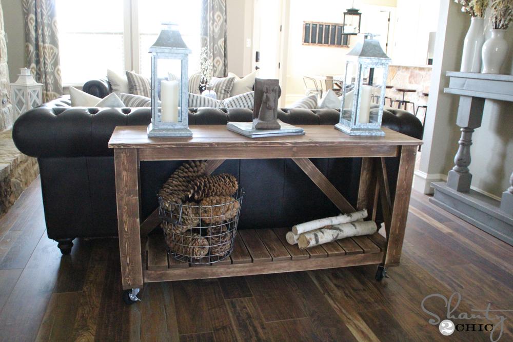 Gray Sofa End Table