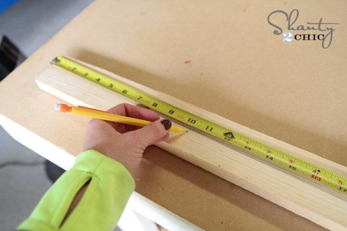 Measure wood for bookcase