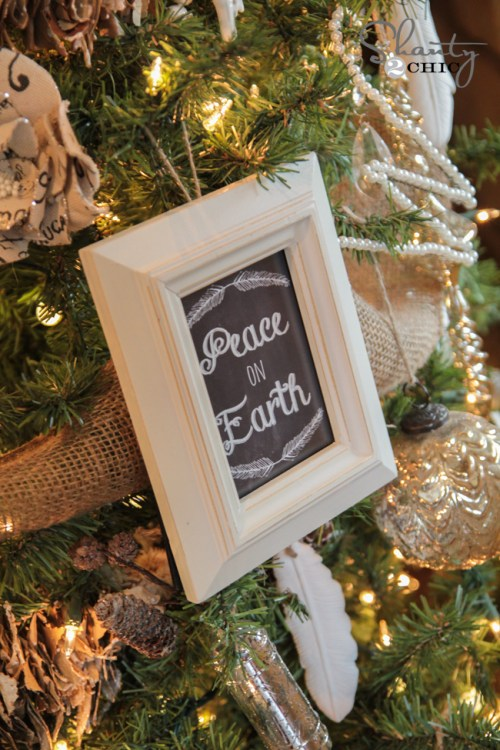 Free Printable Chalkboard Ornaments