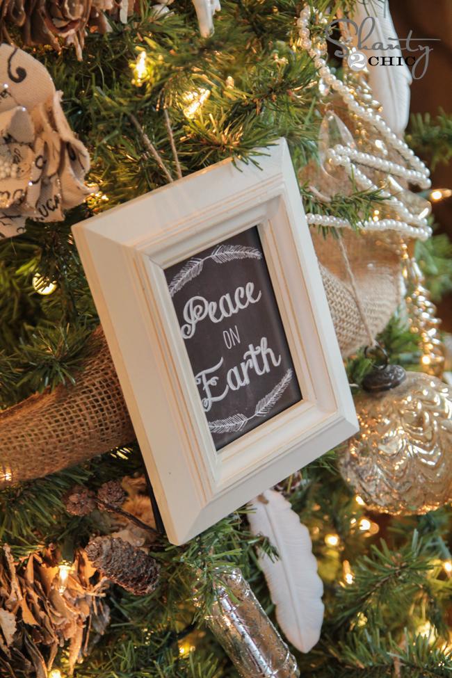 image regarding Free Printable Christmas Ornaments known as Cost-free Printable Xmas Ornament Frames - Shanty 2 Stylish