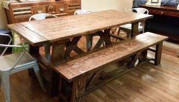 Diy 4x4 Beam Dining Table Shanty 2 Chic