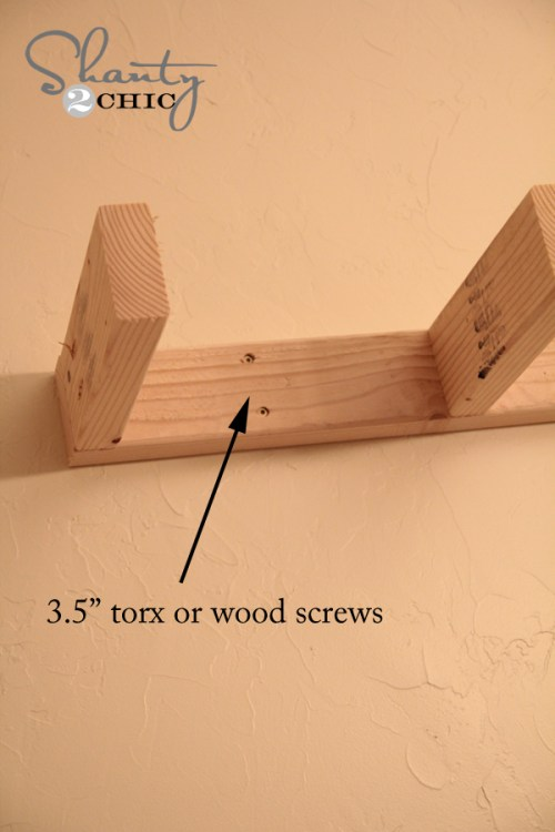 Attaching shelf to the wall