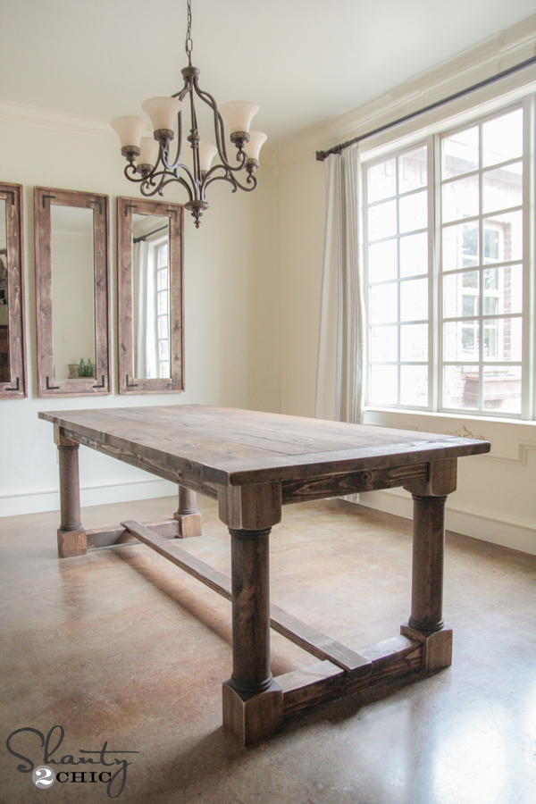 DIY Turned Leg Dining Table