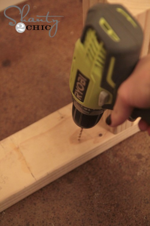 Predrill wood for floating shelf