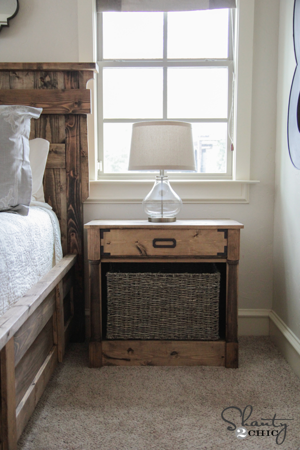 DIY Nightstand Free Plans by Shanty2Chic