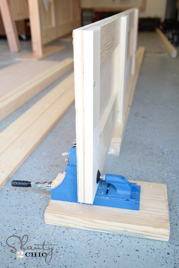 Kreg Jig on bed rail