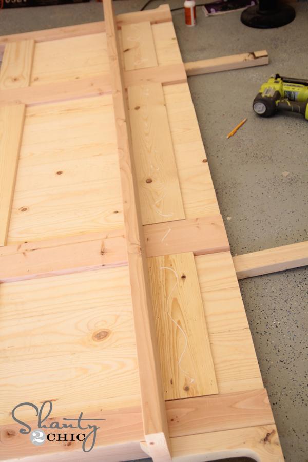 Wood glue on footboard