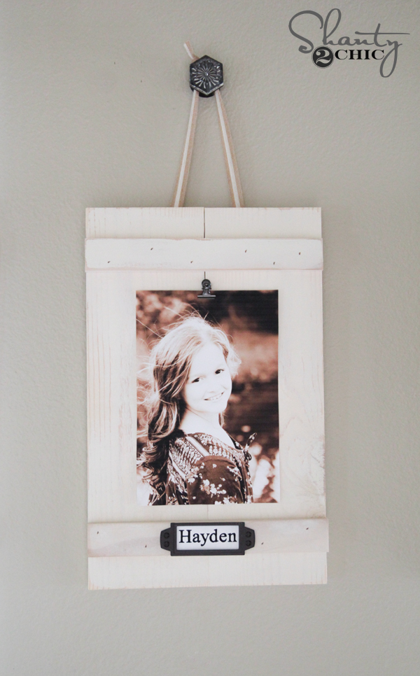 DIY Hanging Clip Frames by Shanty2Chic