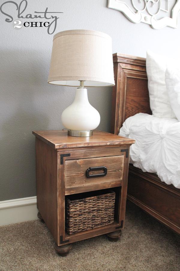 Diy Nightstand With Bun Feet Shanty 2, How To Put Bun Feet On Furniture
