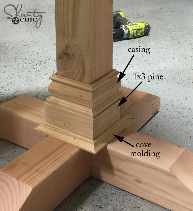 Trim Table Base Leg