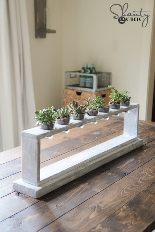 DIY Centerpiece with Succulents by Shanty2Chic