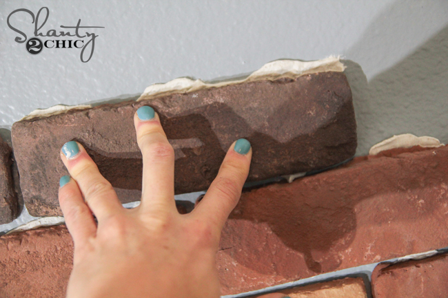 Attaching thin brick to the wall