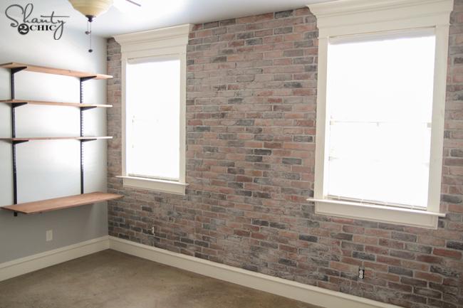 DIY Thin Brick Wall by Shanty2Chic