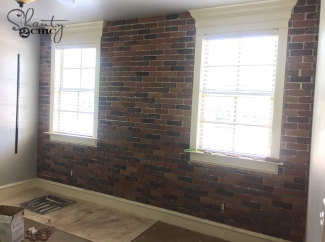 Progress on brick wall