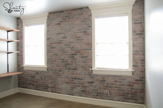 Thin Brick Wall Tutorial by Shanty2Chic
