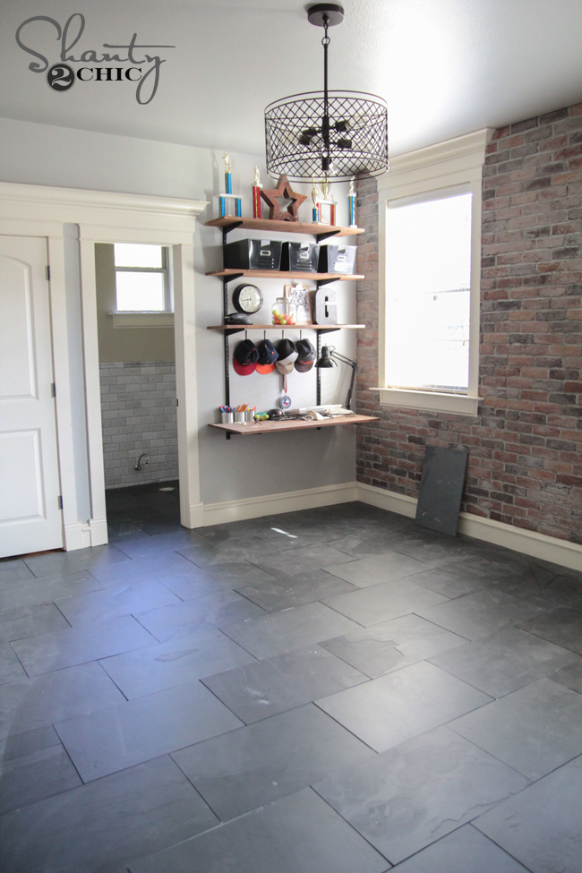 Dark Grey Slate Tile